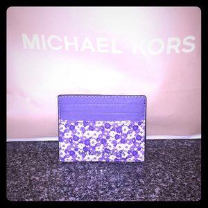 NWT Michael Kors Floral Cardholder